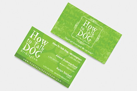 How to Talk Dog Business Cards